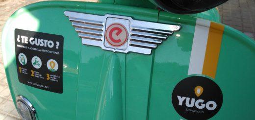 Frontal scooter Yego verde vespa