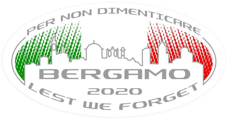 Il logo che caratterizza HORUS TRIBUTE, special edition di Caberg per i caduti di Bergamo per il COVID19