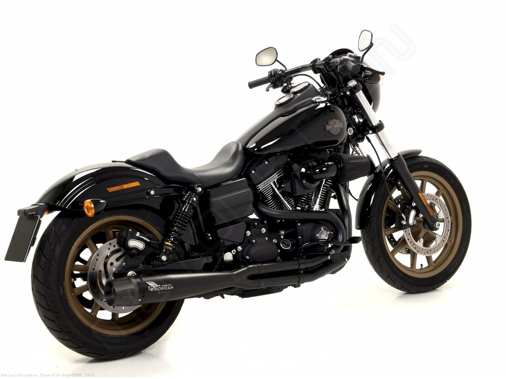 2 into 1 full system exhaust by mohican harley davidson dyna fat bob fxdf 2017