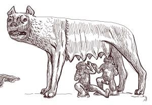 Fig. C. Olivier Genevois élevé par les loups.