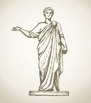 Fig. A. Aristote prenant la voiture numéro 11. Musée du Louvre.