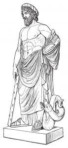 Fig. 1. Antique barbacole avec son bâton punisseur et son serpent de la connaissance. Allégorie.