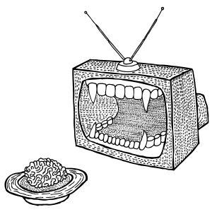 Fig. 1. Temps de cerveau disponible offert à la télévision. Musée TF1.