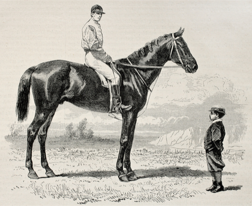 Monter à cheval comme une paire de tenailles sur le cul d'un chien [mɔ̃te a ʃəval kɔm yn pɛʁ də tənaj syʁ lə ky dœ̃ ʃjɛ̃]