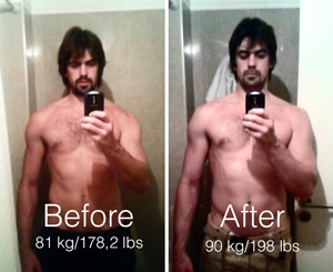 Before And After Muscle Mass Gain How To