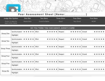 SYTYCD-Peer-Assessment