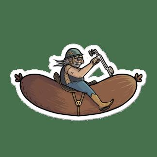 Sticker saucisse volante