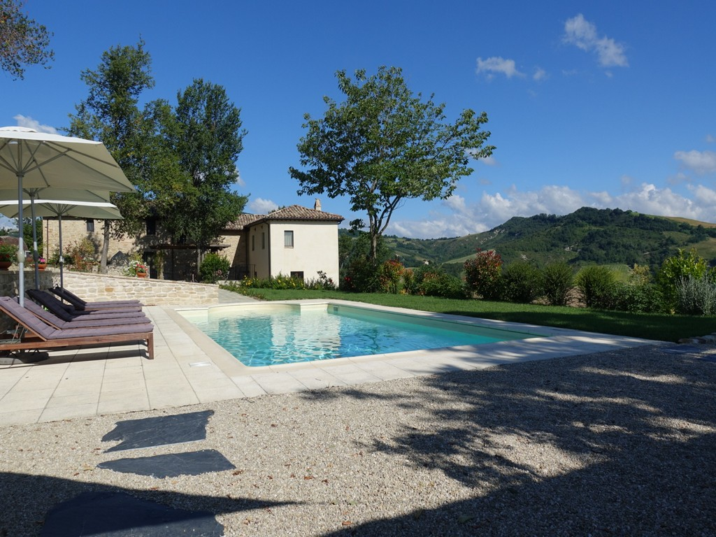 Country House With Pool And Beautiful View For Sale In Force Marche