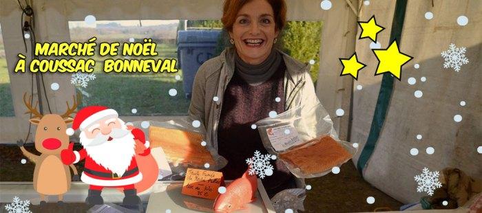 Zaza au marché de Noël de coussac-Bonneval