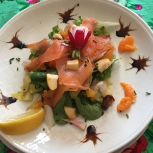 Salade de truite gravlax