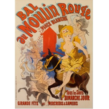 the 1st moulin rouge poster by cheret
