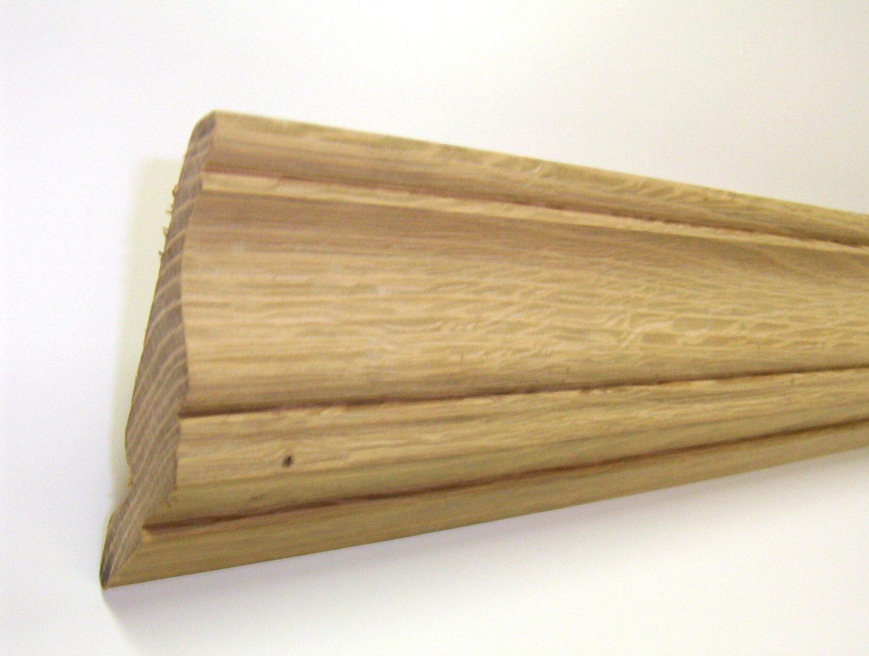 corniche de cuisine chene massif 20 x 92 mm