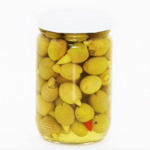 Green olive stuffed with chili – 0.6 kg –