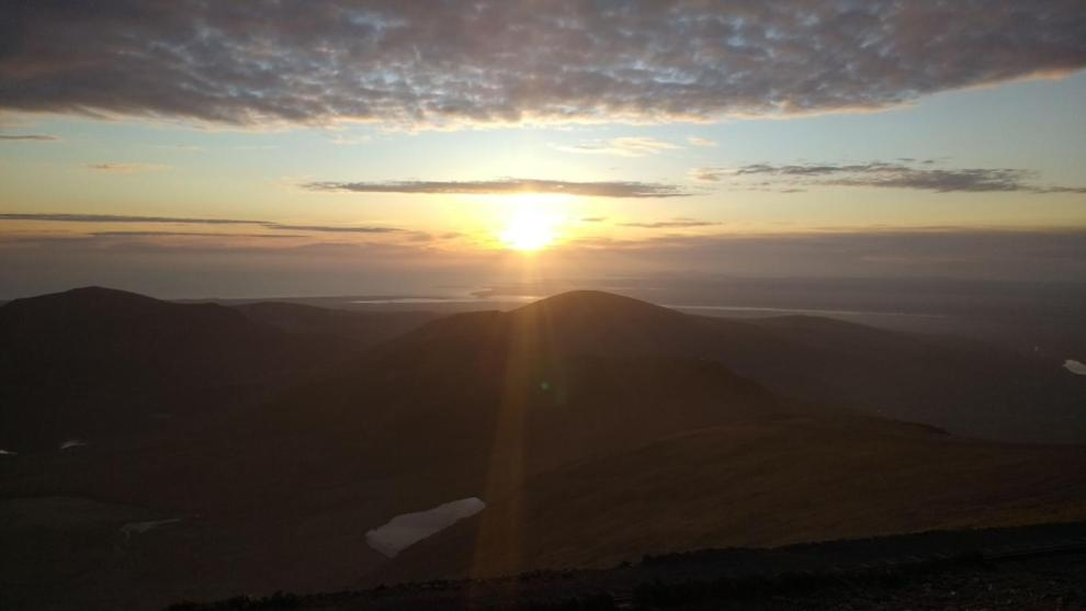 Snowdon Moonlight Guided Walks Image - Snowdon Sunset View