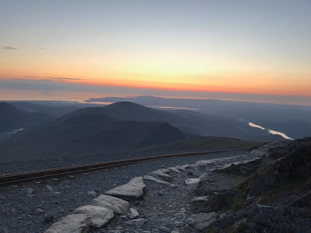 Snowdon Summit Sunset