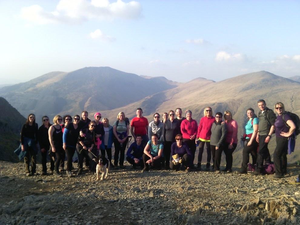 Group on Snowdon Moonlight