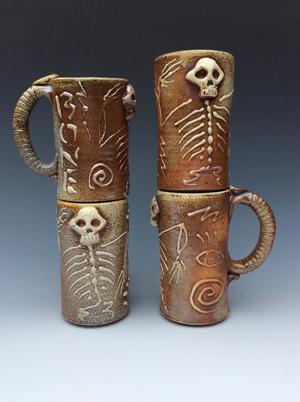 Dan Hennig, Stacked Bone Mugs