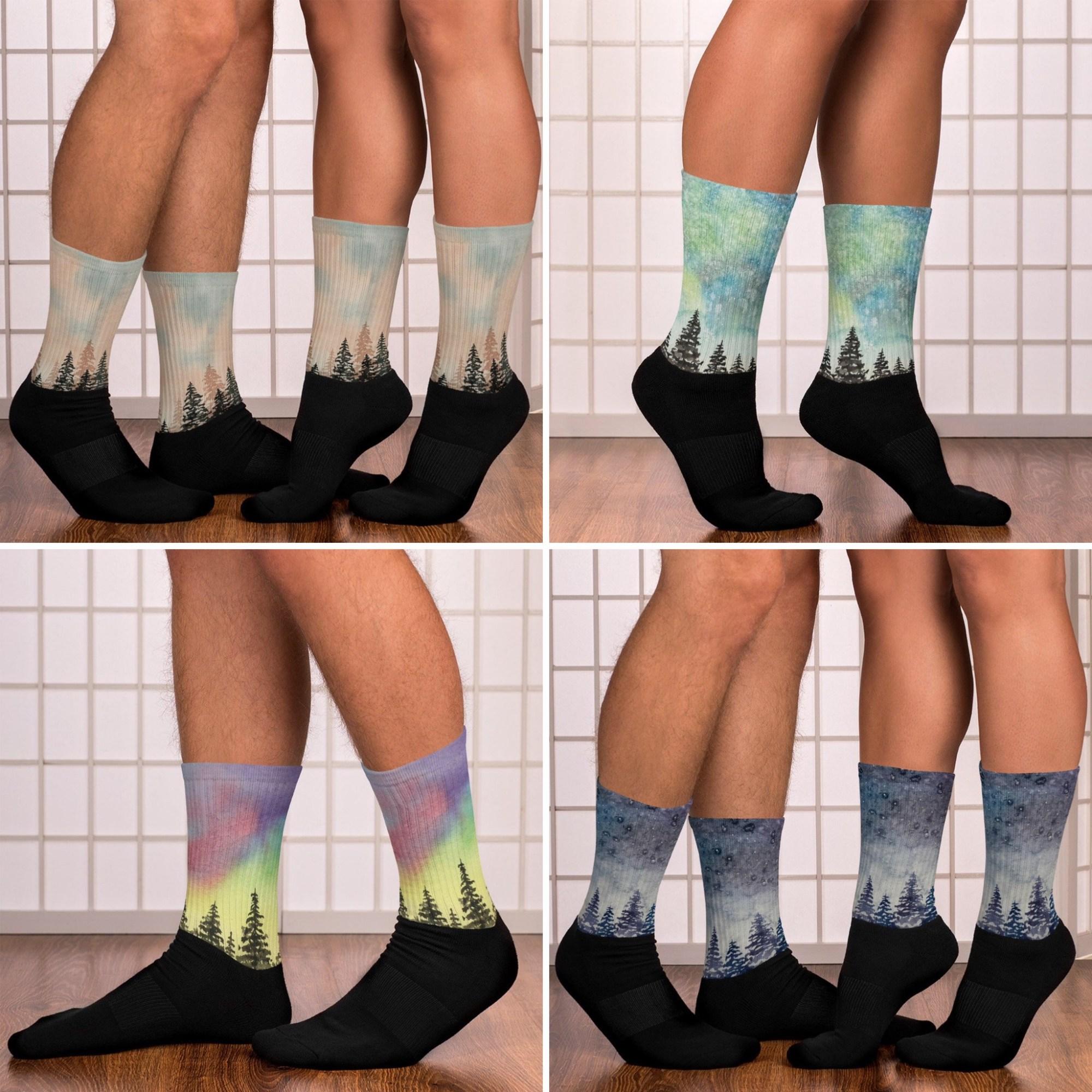 Watercolor Forest Socks - Rebecca Goodman