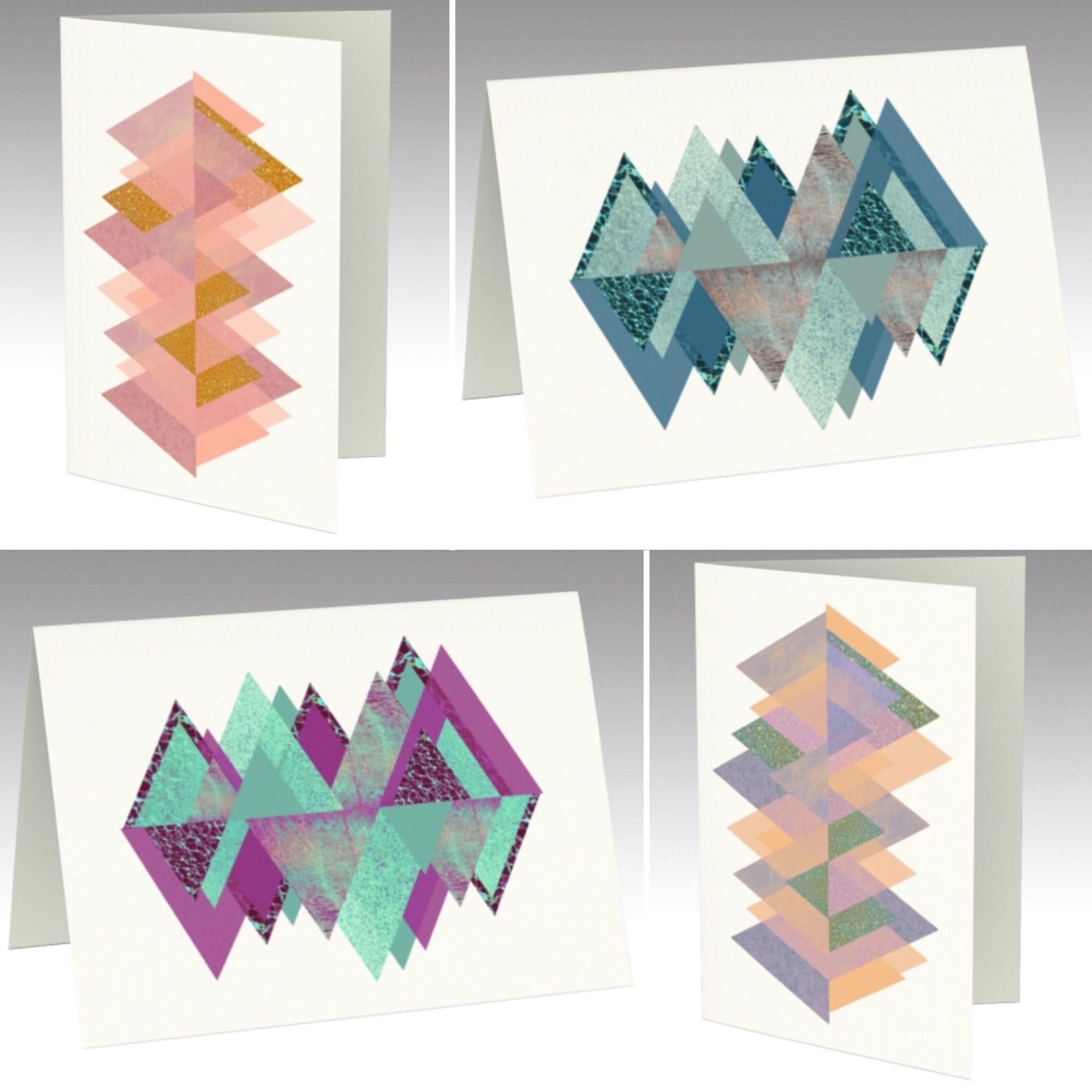 Prismatic Series, Blank Interior Greeting Cards - Rebecca Goodman