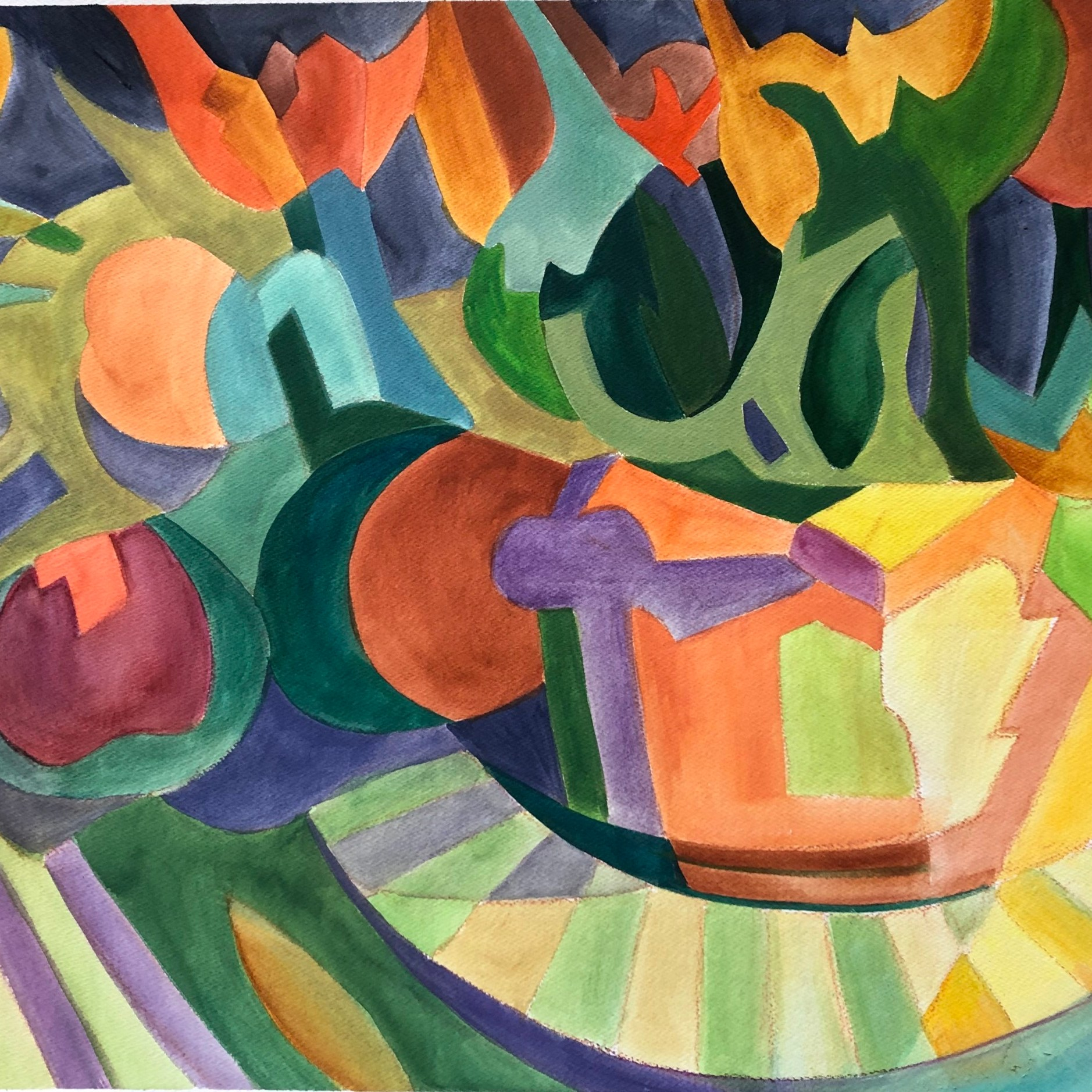 Tulip Abstraction - Linda Curtis