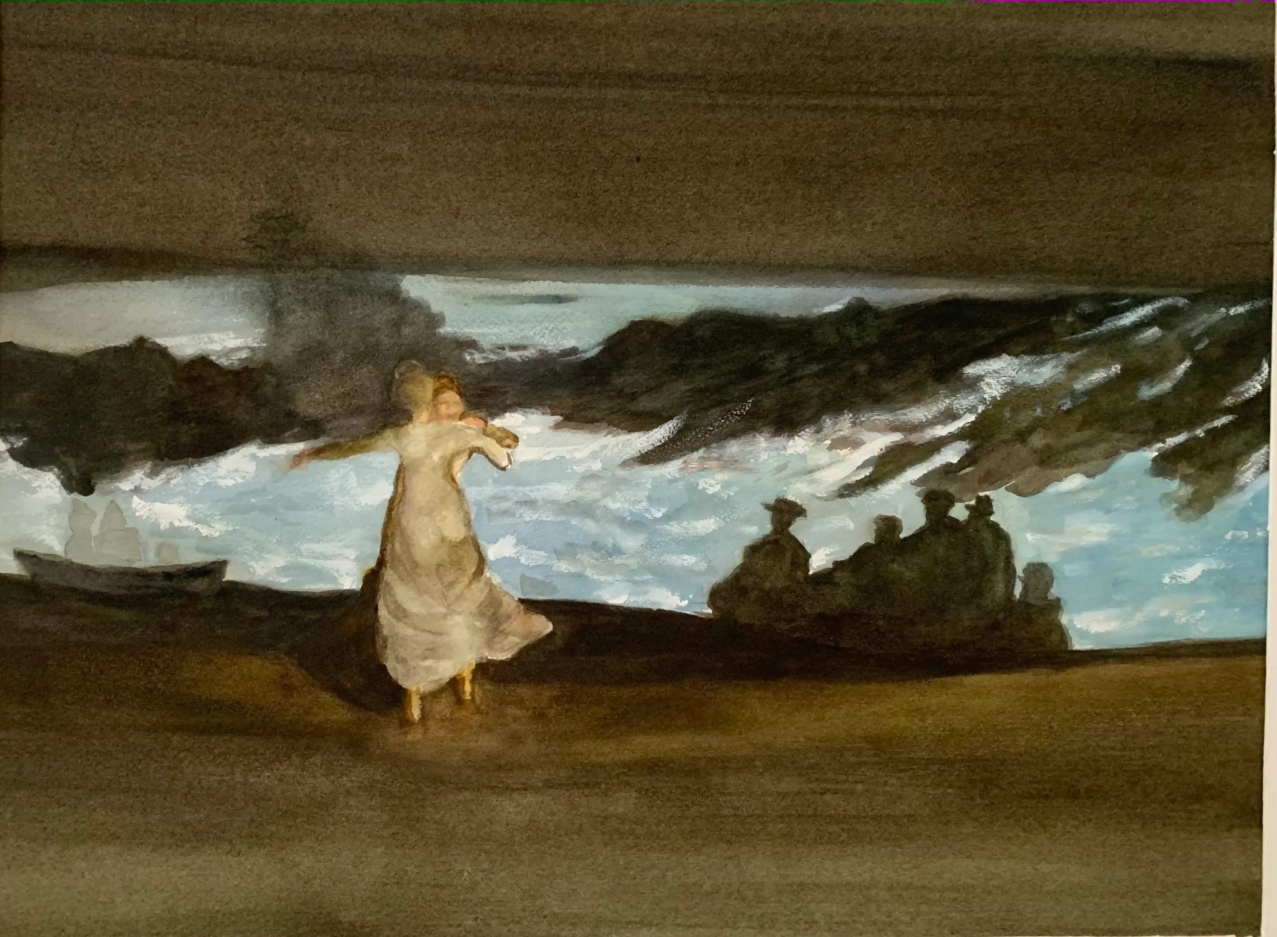 """Summer Night Inspired by Winslow Homer """"The Magic of Moonlight"""" - Alisan Andrews"""