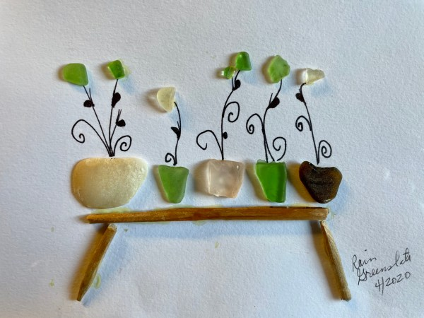Grandma's Potting Table - Rain Greenslate