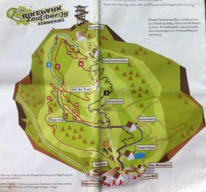 Streckenplan bike park map semmering zauberberg