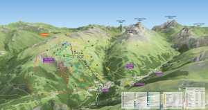 Valloire map