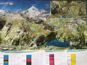 plan des pistes vtt tignes val d'isere mountain bike map kaart karte