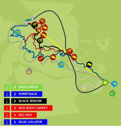 Bike park Wurbauerkogel map Streckenplan