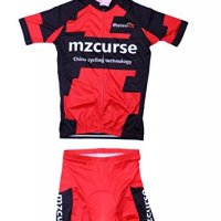 Mzcurse Red Cycling Team Bike Bicycle Cycling Wear Mountain Short Shirt Jersey+ Shorts Suit Sets