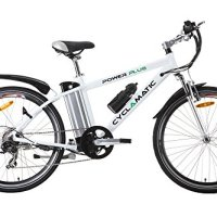 Cyclamatic Power Plus Electric Mountain Bike with Lithium-Ion Battery White