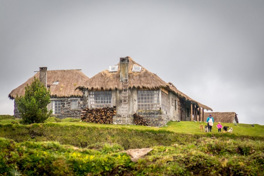 Traditional accommodation in Ecuador as part of our mountain bike adventures South America