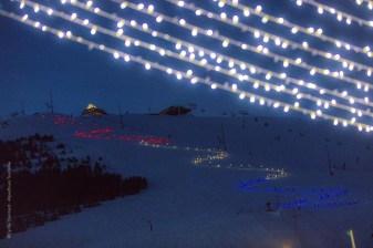 Ski Instructor Night Ski Display