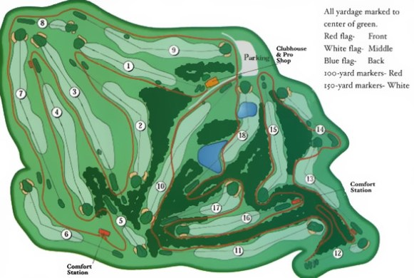 Gatlinburg Golf Course Gatlinburg Golf Course Map