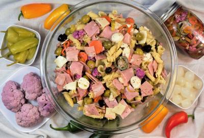 Muffuletta Pasta Salad | Mountain Cravings