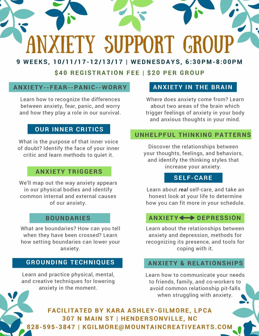 Fall 17 Anxiety Group Flyer