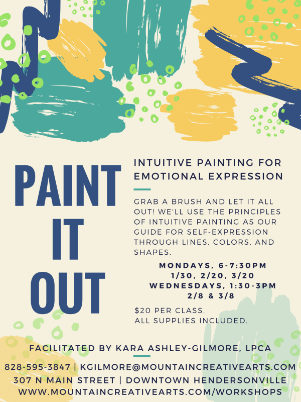 Paint it Out at Mountain Creative Arts Counseling