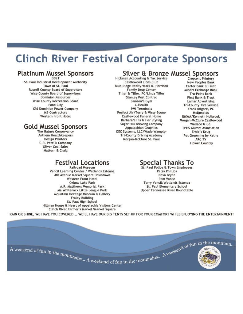 Clinch River Days sponsors