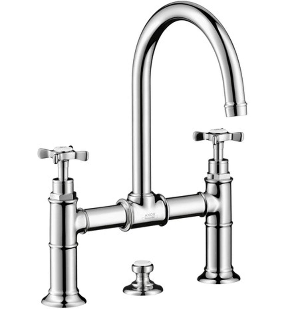 axor montreux 2 handle faucet 220 with cross handles and pop up dra
