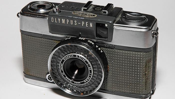 A vintage Olympus PEN.