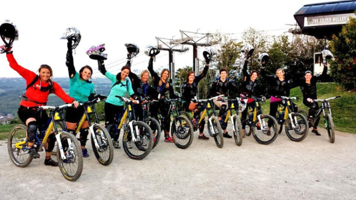 Women's Only Intro to Downhill Mountain Biking at Blue Mountain.