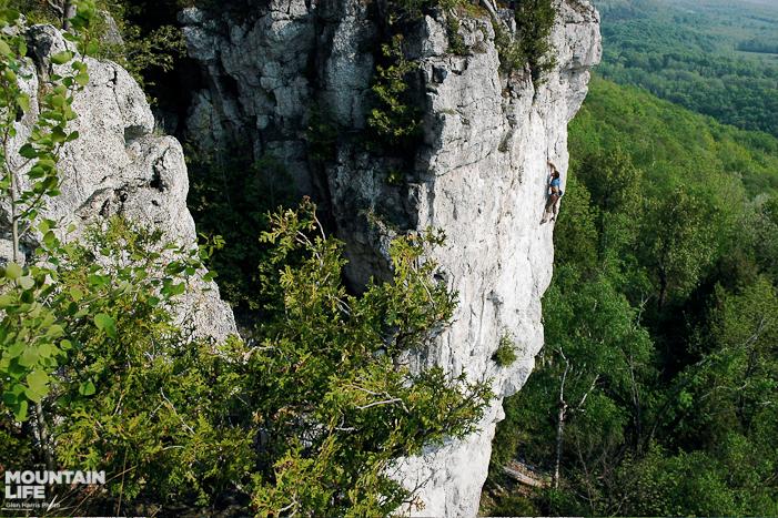 Old Baldy crag. Photo by Glen Harris.