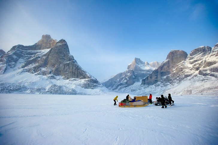 En route to Sam Ford Fjord from Clyde River, Baffin Island, Canada
