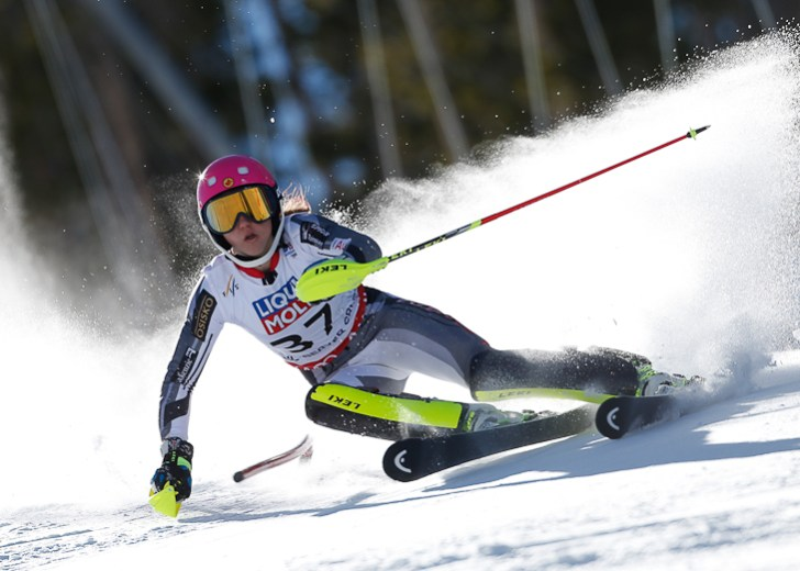 Ski World Championship Vail Beaver Creek 2015-- Candace Crawford (CAN) in slalom. Beaver Creek (USA) February 14 2015 (Photo/ Marco Trovati-Pentaphoto)