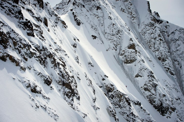 Dave Treadway and Henrik Windstedt travel deep into the British Coloumbia backcountry on snowmobile to tour and ski the Monmouth and nearby glacier area.