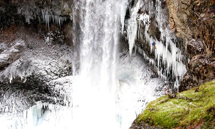 Tim Emmett on his new wild mix route Brandywine falls British Columbia