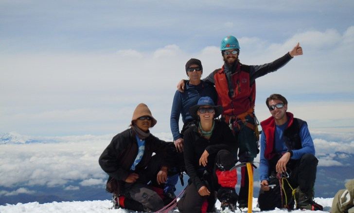 71 Group on top of Cayambe