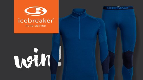 win an icebreaker winter zone 260 merino base layer with mountain life