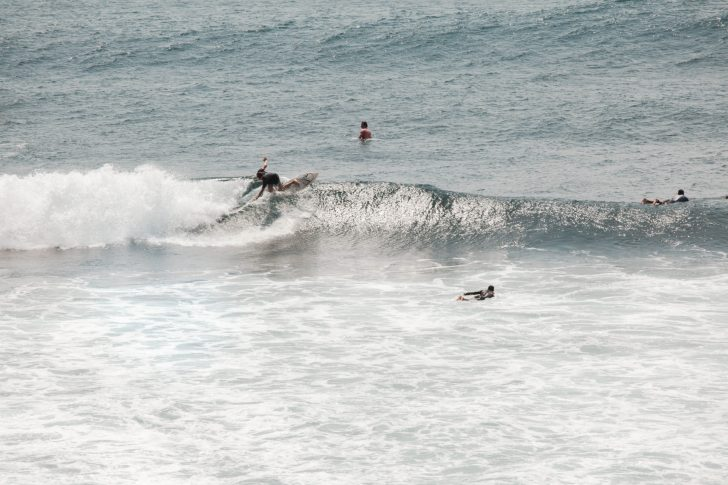 Surfing a break in Bali